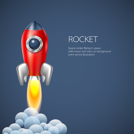 booster: Rocket icon  space vector spaceship technology illustration ship fire symbol flame cartoon art