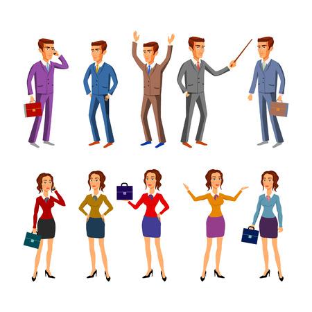 director de escuela: caracteres establecidos para su uso en el dise�o. equipo de oficina. vector. hombre de arte las mujeres Vectores