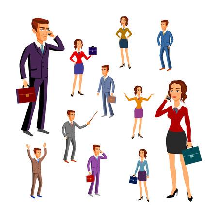 director de escuela: caracteres establecidos para su uso en el diseño. equipo de oficina. vector. hombre de arte las mujeres Vectores