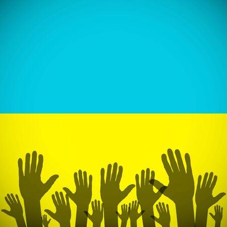 ministry: Ukraine Coat Arms symbol background sign country flag national Illustration