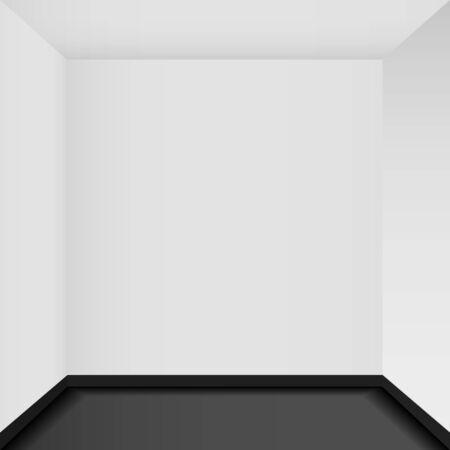 corner house: Empty corner in the room - Vector art