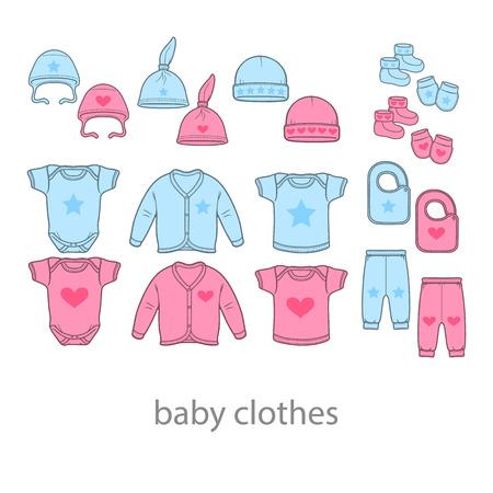 baby clip art: Baby fashion clothing fashion vector shirt illustration design wear art