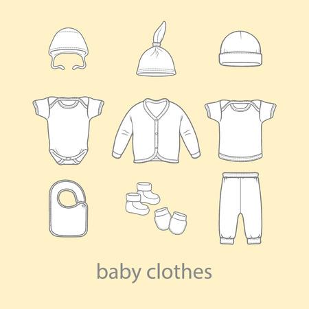 Bébé vêtements de mode t-shirt illustration usure de conception de vecteur de mode art
