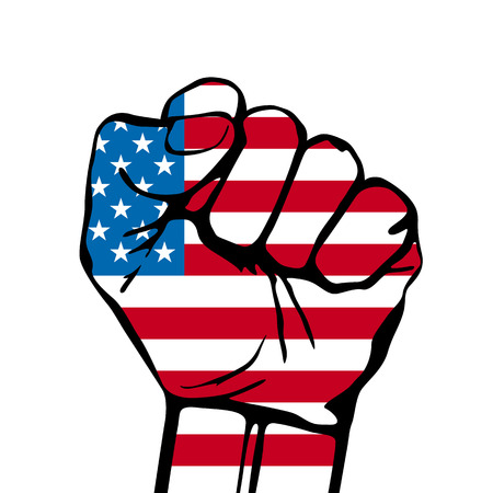 Power of Liberty, concept with USA flag background. EPS 8,