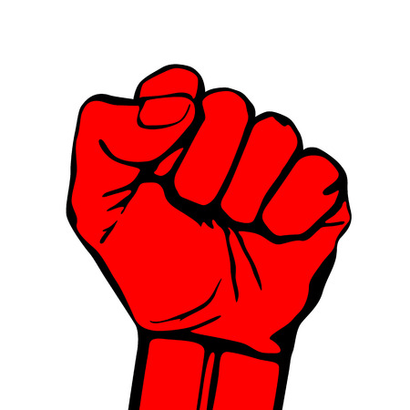 Raised fist vector icon art  hand protest graffiti strike fight 向量圖像