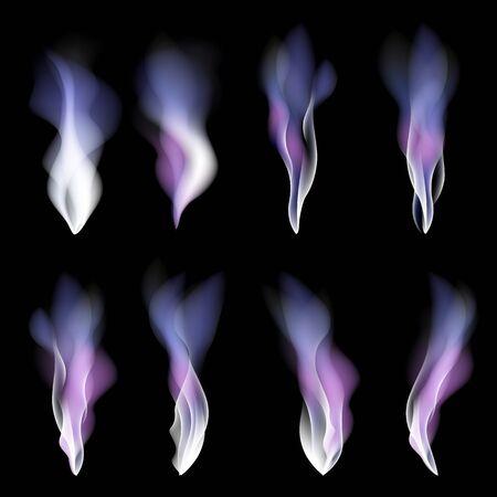 light wave: Priorit� bassa chiara di festa fumo viola disegno astratto onda luce arte