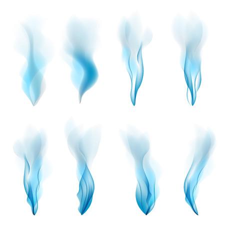 抽象煙ベクトル青色の背景白の抽象的デザイン芸術  イラスト・ベクター素材