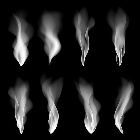 Vector set smoke background fire smooth wallpaper concept shape art Vettoriali