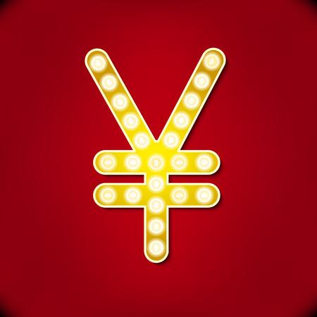 bullish: Diamond glittering Yen sign of sparkling brilliants glitter font concept
