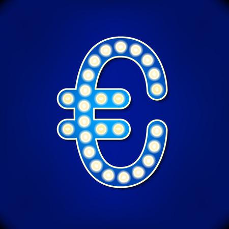 reflector: vector reflector light euro symbol art  spot flash icon