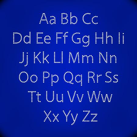 fashion show: Retro Lightbulb Alphabet Glamorous showtime theatre alphabet. Vector illustration. art
