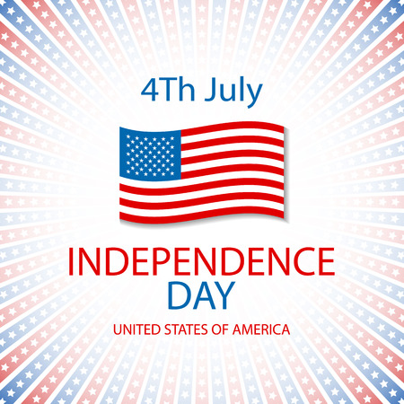 independence day america: Happy independence day card United States of America, 4 th of July, with fonts