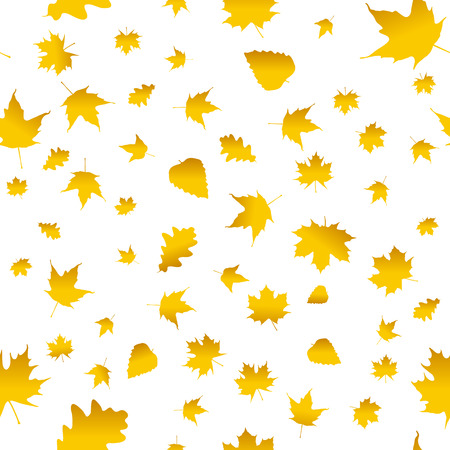 leafage: Seamless pattern with colorful autumn leaves. Vector illustration. Illustration