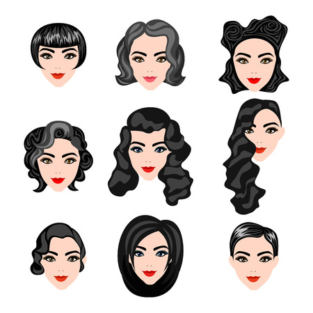 woman hairstyle: different faces of women with hairstyles black
