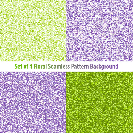 textured backgrounds: Set Textured Natural Seamless Patterns Backgrounds floral Illustration
