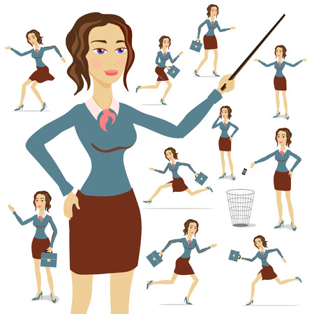 Une femme d'affaires portant un costume avec ses bras plié avec le fond des cartes art Banque d'images - 44887469