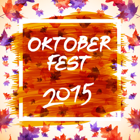 checkered pattern: patch with checkered pattern and text Oktoberfest 2015 art