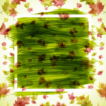 wind down: Autumn abstract background  Illustration