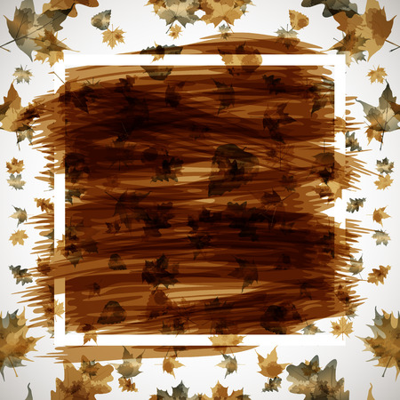 wind down: Autumn abstract background art vector Illustration