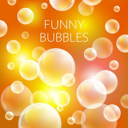 bleb: Abstract soap bubbles vector background. Transparent circle, sphere ball, water sea and ocean pattern illustration art