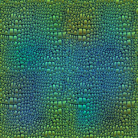 Vector illustration of alligator skin seamless art crocodile Vettoriali