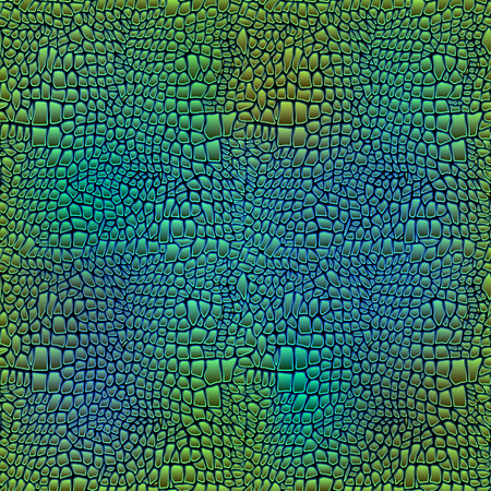 Vector illustration of alligator skin seamless art crocodile Иллюстрация