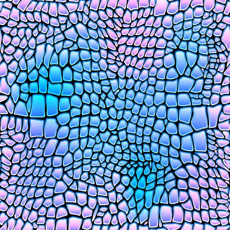 snakeskin: Vector illustration of alligator skin seamless art crocodile Illustration