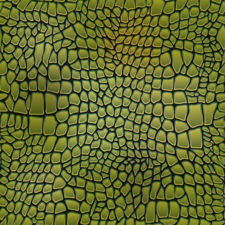 Vector illustration of alligator skin seamless art crocodile Vectores