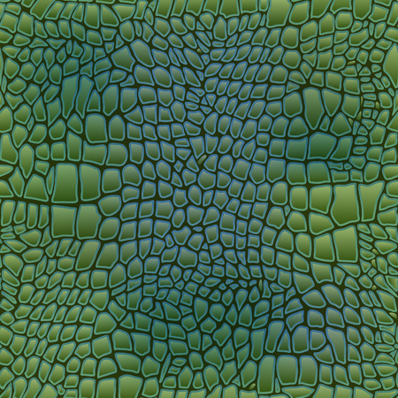 snake leather: Vector illustration of alligator skin seamless art crocodile Illustration