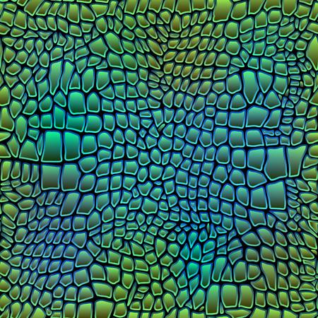 Ilustración del vector de piel de cocodrilo sin fisuras de cocodrilo arte Foto de archivo - 46853818