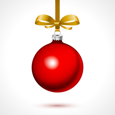 De ballen van Kerstmis met sneeuwvlokken, op een witte achtergrond vector kunst