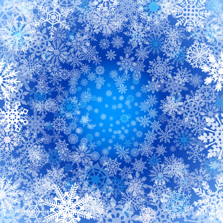 christmas snowflakes: Christmas snowflakes background Blue background with snowflakes. Vector illustration art