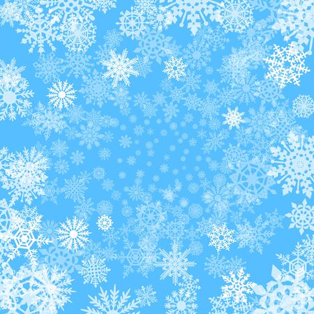 blue snowflakes: Background with snowflakes art blue