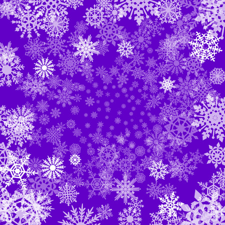 removable: Winter watercolor abstract background with falling snow splash texture. Icicles edge. Christmas, New Year hand drawn template. Shades of violet and pink watercolour stains. Snowflakes are removable. art