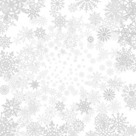 flakes: Winter grey  background with snowflakes.