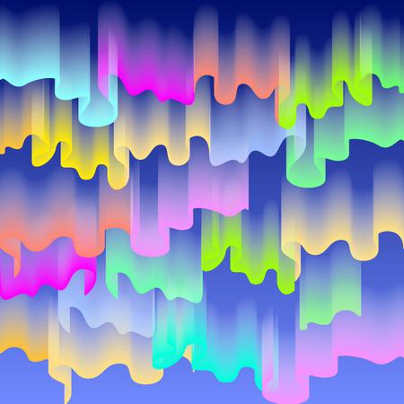northern light: Northern or polar lights, copy-space background, vector illustration art