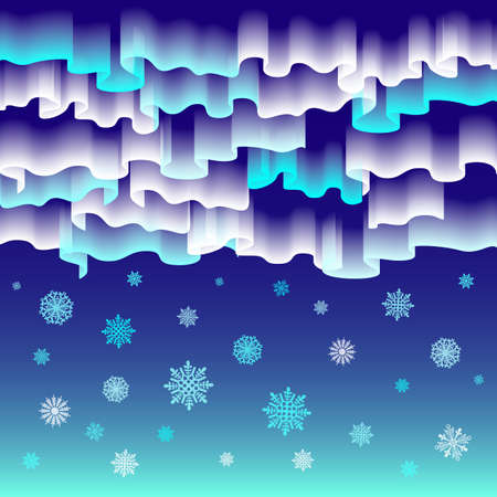 northern light: Northern lights. Abstract vector background art merry christmas