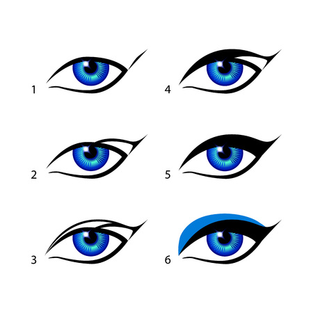 eyeliner: eyeliners set Winged eyeliner is a whole lot easier with this trick. Make Sense Of Makeup art