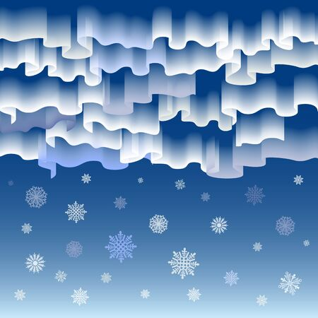 northern lights: Northern lights. Abstract vector background art merry christmas