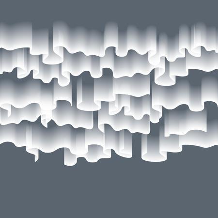High detailed illustration of polar lights on the starry sky