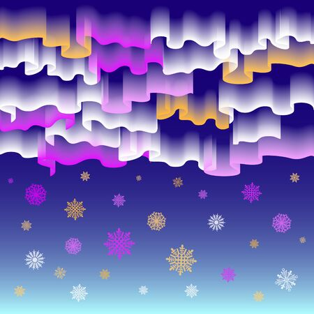 northern: Northern lights. Abstract vector background art merry christmas