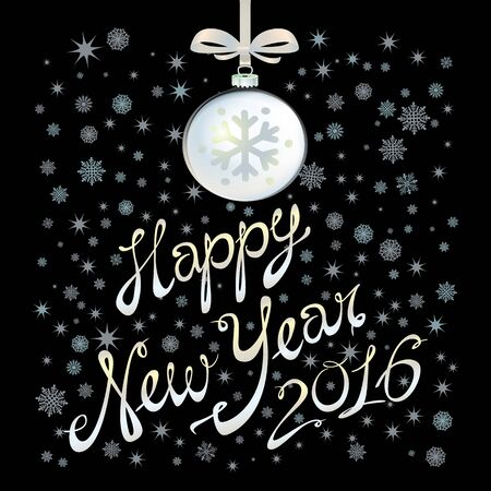 eps vector art: 2016 Happy New Year glowing background. Vector illustration EPS 10 art