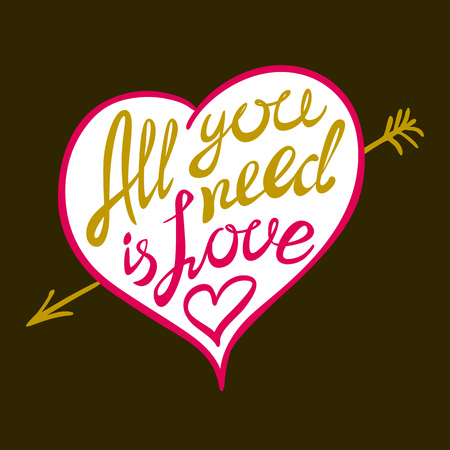 digitally: Digitally generated All you need is love vector art