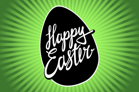 sunday: easter, easter egg, easter sunday, easter day, easter background, easter card, easter holiday, easter vector, happy easter, text, easter art, green, hand lettering, vector illustration art