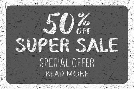 sale tag: Numbers 0-9 written with a brush on a wood background lettering. Super Sale. Big sale. Sale tag. Sale poster. Sale vector. Super Sale and special offer. 50% off. Vector illustration. art