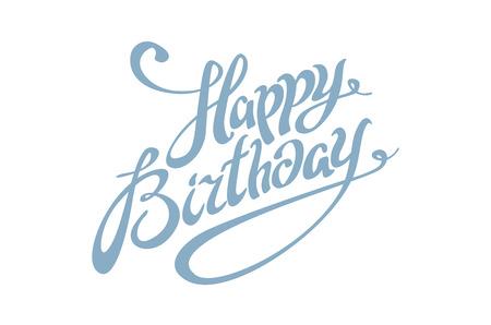 Cumpleaños letras de la caligrafía Arte feliz tarjeta del vector