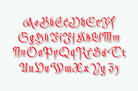 western script: gothic retro style font with grunge art