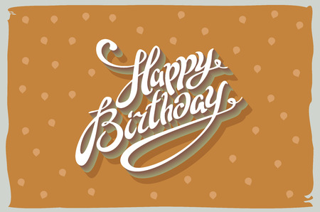 Happy Birthday Fonts ~ Vintage retro happy birthday card with fonts grunge frame and