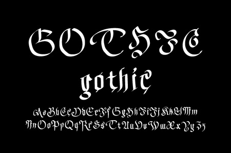 gothic style: Modern Gothic Style Font. Gothic letters art vector