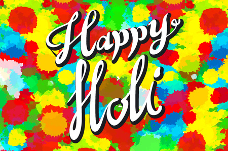 gulal: illustration of abstract colorful Happy Holi background art Illustration